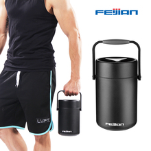 Feijian 2L thermos for food with containers Portable lunch bento box compartments jar Leak-Proof Thermal Insulation