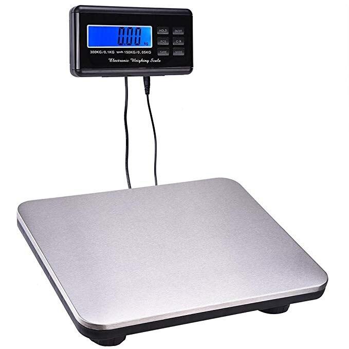 300KG//100g LCD Digital Personal Floor Postal Platform Scale Weight Price 660LB