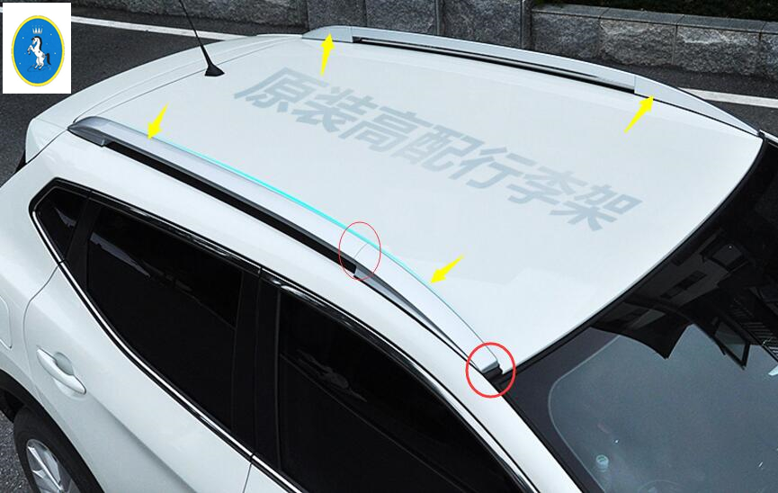 Yimaautotrims Auto Accessory Top Roof Rack Side Rails Bars Luggage Carrier Cover Trim Fit For Nissan Qashqai J11 2014 2015 2016
