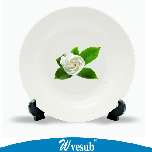White Porcelain Tableware Dinner Plate 8 inch 10 inch Sublimation Custom Photo Decoration Plate With Base & White Porcelain Tableware Dinner Plate 8 inch 10 inch Sublimation ...