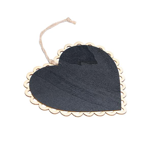 15x16cm Wooden Hanging Blackboard With Hemp String Love Heart Chalkboard Luggage Label Message Board Hang Tag Welcome Sign Board