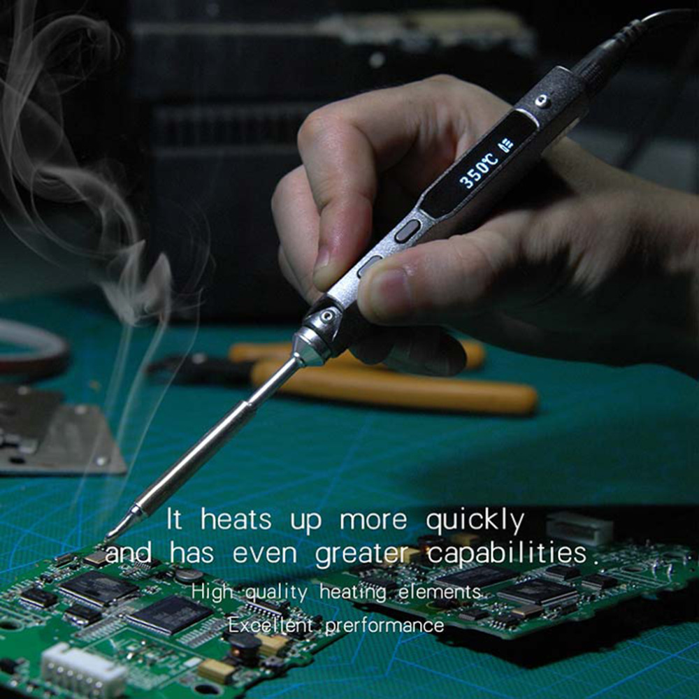 2019 Portable 65W Programmable TS100 Electric Soldering Iron Stylish Mini Digital LCD Display with BC2 Soldering Iron Tip