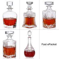 Navidad 2018 Christmas Gift Whisky Glass Bottle Wine Decanters 500ml 700ml 750ml 900ml Top Grade Brandy Vodka Kitchen Home Decor