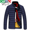 cartelo brand MEN's 2016 winter new MEN's JACKET stand collar WHITE DUCK DOWN JACKET solid color thin MEN DOWN JACKET MEN winter