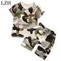 LZH 2017 Baby Boys Summer Clothes Set Kids Boys Camouflage Sports Suit T-shirt+Shorts 2pcs Tracksuit Suit Children Clothing Sets