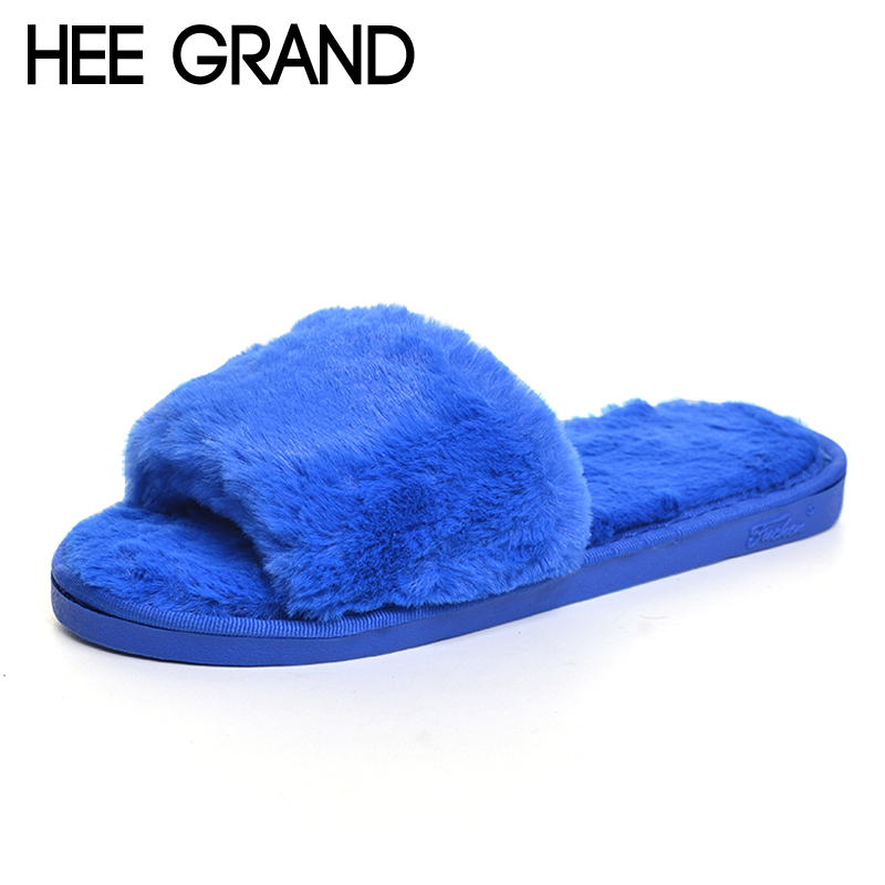 HEE GRAND 2017 New Slippers Platform Sweet Solid Beach Slides Spring Casual Flats Shoes Woman Slip On Creepers Size 35-41 XWT860 wedges gladiator sandals 2017 new summer platform slippers casual bling glitters shoes woman slip on creepers