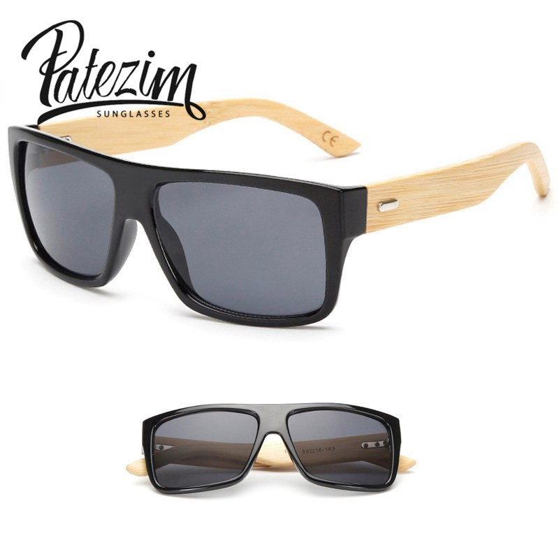The new eyewear fashion sunglasses handmade make bamboo Style Men &Women explosion models sunglasses oculos de sol