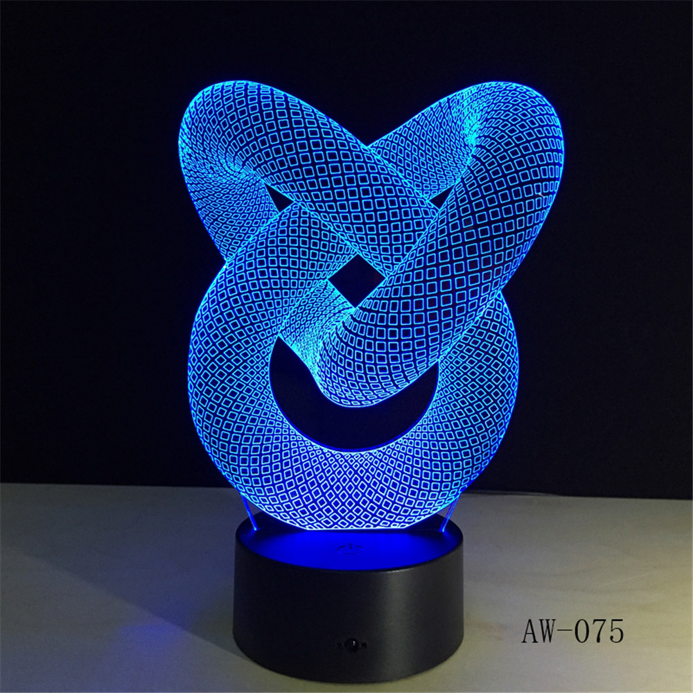 Touch and Remote Control for Home Office Decor, 3D LED Table Night Lamp