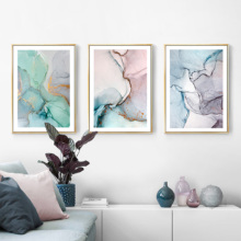 Abstract Flow Color Nordic Style Wall Art Canvas Poster and Print Painting Decorative Picture for Living Room Home Decor