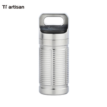 Tiartisan Portable Titanium Pill box Case Waterproof Battery Storage Ultralight Container Ta6110Ti