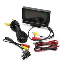 New Car Rear View Kit Digital 4.3 TFT LCD Monitor DC 12V Cars Monitor+Night Vision Backup Revers Camera