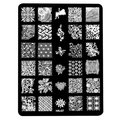 14.5*9.5cm Stamping Nail Art Image Plate Design Rectangle XL Stencil metal lace flower patterns manicure template stencil HK07