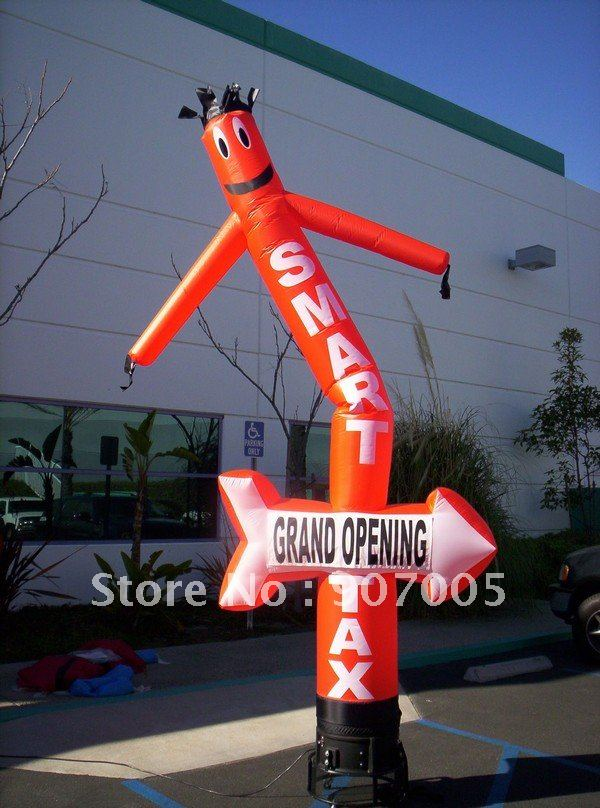 AD56 DHL Free shipping One leg red color Arrow Advertising Inflatable air dancer sky dancer 13ft