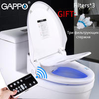 GAPPO Smart toilet seat toilet seat bidet Washlet Electric Bidet cover heat sit led light integrated children training chair