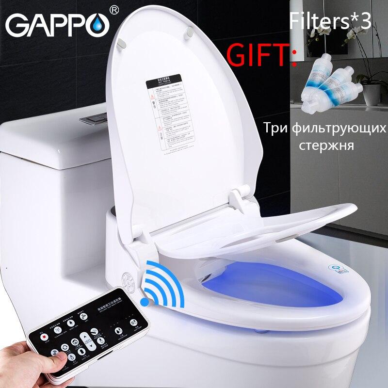GAPPO tampa de assento do toalete assento do vaso sanitário Inteligente bidé Washlet Bidé Elétrica calor sentar cadeira para crianças de luz led integrado inteligente