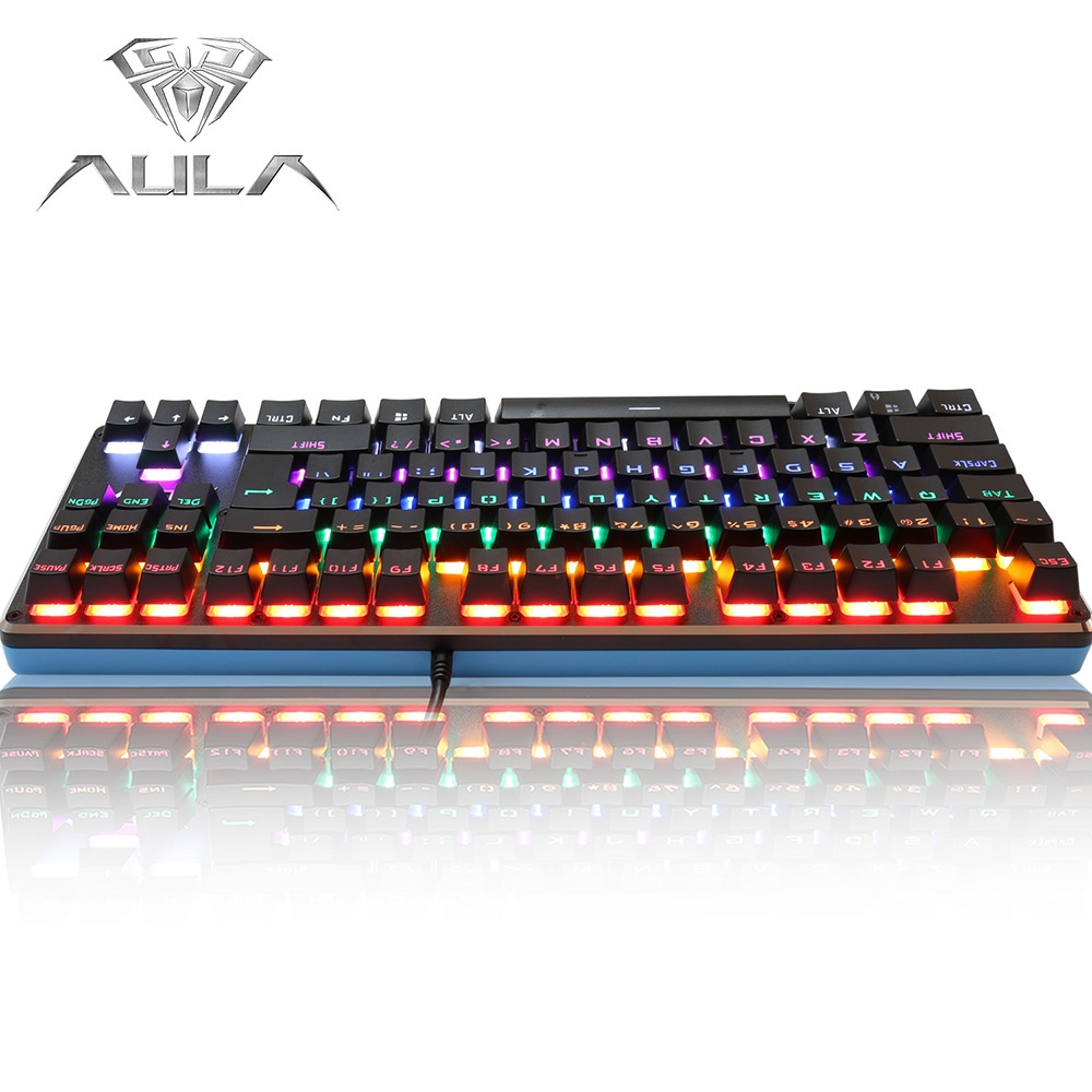 aula professional usb wired backlit gaming mechanical keyboard blue axis anti ghosting luminous. Black Bedroom Furniture Sets. Home Design Ideas