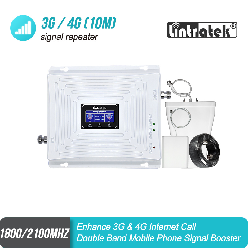 Signal Repeater GSM 2G 3G 4G 1800mhz WCDMA 2100mhz Double Band  LTE 1800 2100 UMTS Signal Repeater Amplifier With LCD Display#48