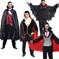 Hot Gothic Halloween Vampire Costume Adult Party Cosplay Clothes Men Evil Devil Festival Masquerade Clothing Top Trouses Cape