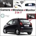 3in1 WiFi Especial Cámara de Visión Trasera + Receptor Inalámbrico + Sistema de Aparcamiento Monitor del Espejo Para Chevy Chevrolet Lacetti Matiz Nubira