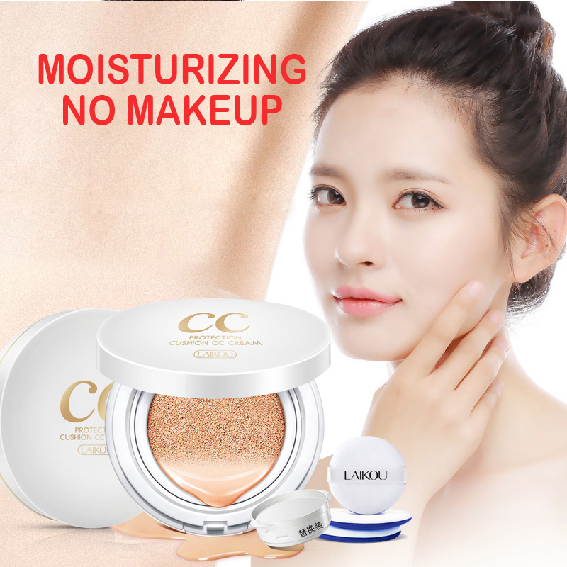 CC Cream Air Cushion Isolation Korean Cosmetic Moisturizer Make Up Oil Control Hyaluronic Acid Whitening BB Makeup LAIKOU image