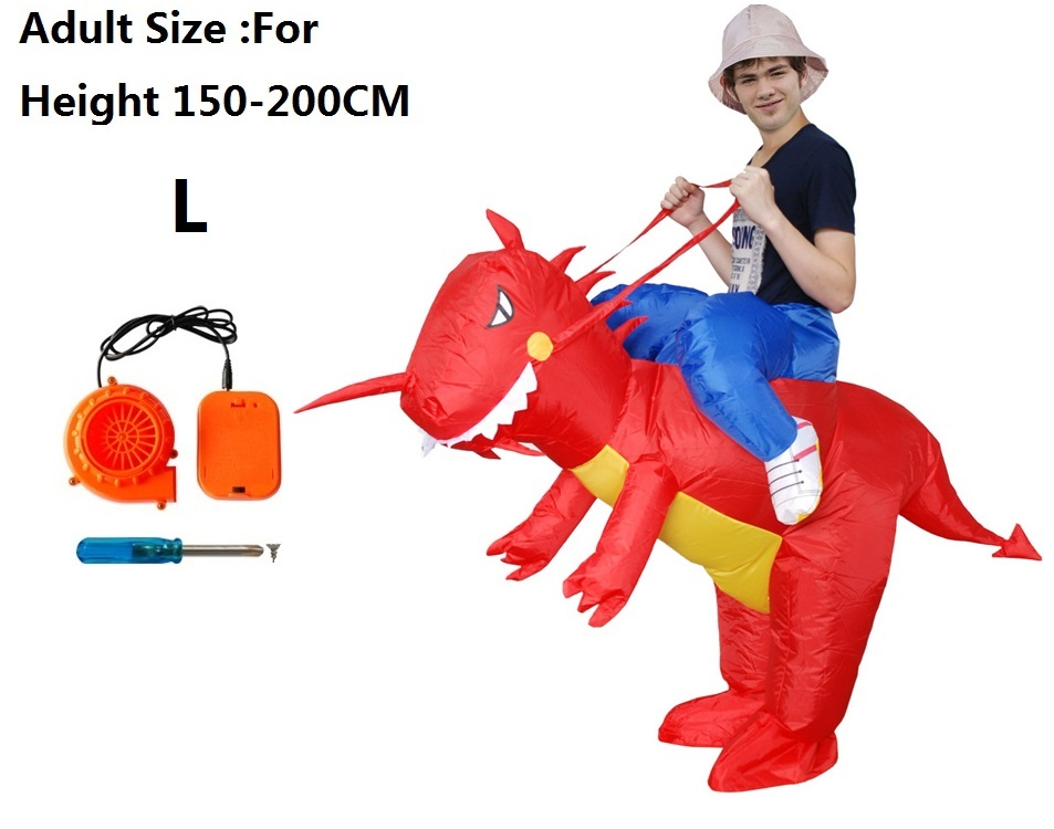 funny kids mens t-rex inflatable adult dinosaur costume dinosaur dino suit costumes for adults kids child boys cosplay halloween