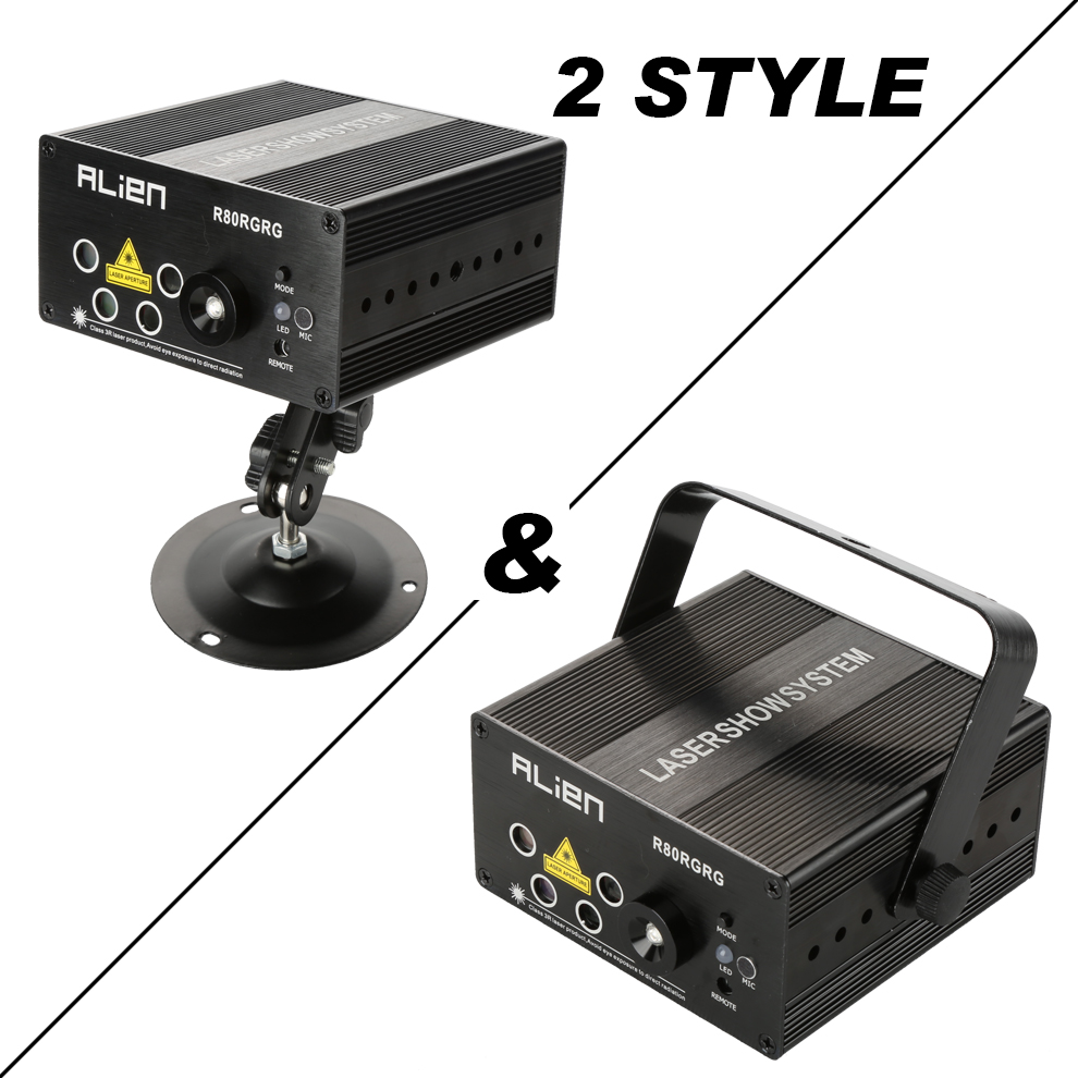 RGB Mini Stage Laser Projector 4 Lens 80 patterns Laser Show System ...