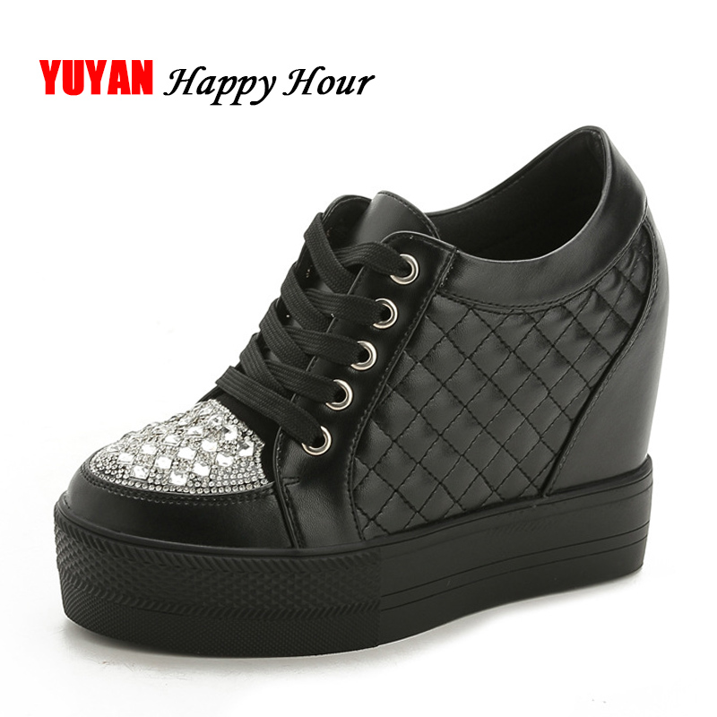New 2018 Fashion Sneakers Women Platform Shoes Rhinestone Height Increasing Shoes Brand Sneakers Sweet Students Shoes ZH2501 new 2018 fashion sneakers women platform shoes women s sneakers brand height increasing shoes pink black white plus size