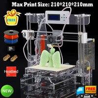 Nuevo Envío gratis de 3D impresora RepRap Prusa acrílico I33 D impresora KIT de máquina con