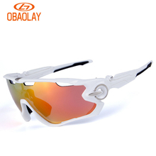Obaolay Hot HD Polarized Cycling Glasses Coating Riding Bicycle Bike Sunglasses Driving Eyewear Outdoor Sports Bicycling Goggles