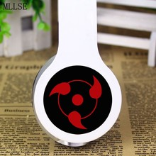 MLLSE Anime Naruto Akatsuki Headband Headphone Earphone 3.5mm Portable Stereo Bass Gaming Headset for Iphone Samsung Xiaomi PC