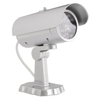 Emulational Dummy CCTV Outdoor Security Camera With Flashing Red 18 LED Light