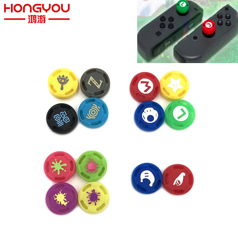 For Zelda Silicone Analog Thumb Stick Grips Caps for Nintend Switch NS JoyCon Controller Sticks Cap Skin for Joy Con Cover ivyueen 2 pcs for joy con silicone joystick thumb stick grip cover case analog caps for nintend switch ns joy con controller