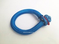 Blue 10mm 150mm RopeShackle ATV Winch Shackle Synthetic Winch Cable Rope UHMWPE Soft Shackles