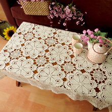 yazi Handmade Cotton Hollow Floral Tablecloths Thread Crochet Table Cover Sofa Desk Piano Decorative Cover 40x60cm