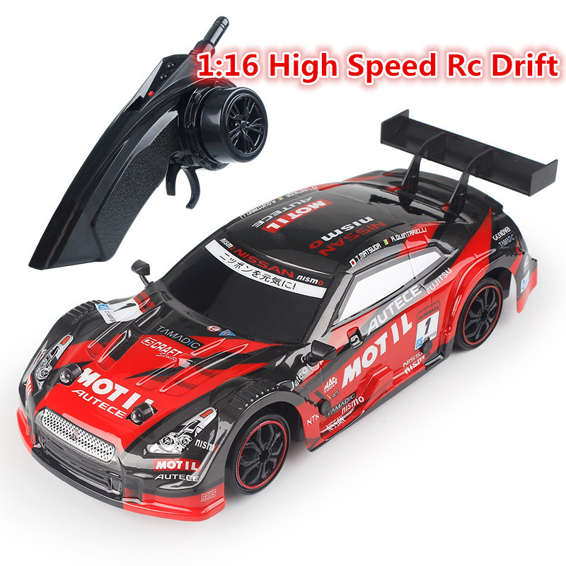2.4G 4WD High Speed RC Sport Racing Drift Car 1:16 Remote Control Module 4WD RTR Car With LED light PVC Car Cover Kid Best Gift image