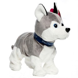 Dropshipping 30cm controle de som interativo cão eletrônico andando filhote de cachorro cão com controle de voz inteligente pet pode andar e casca