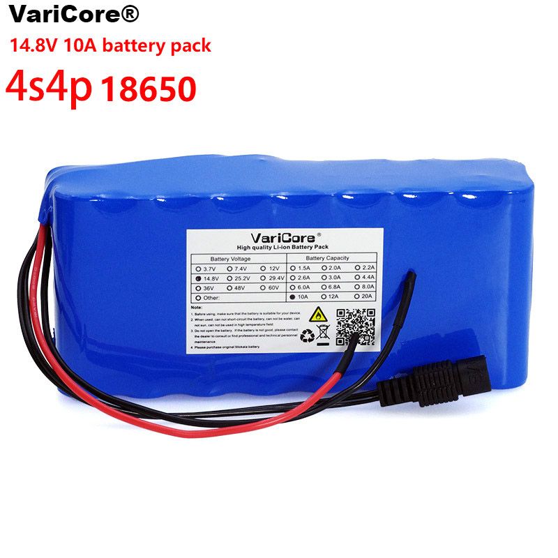 VariCore 14.8V 10Ah 18650 Li-iom Battery Pack Night Fishing Lamp Heater Miner's Lamp Amplifier Battery With 16.8V BMS