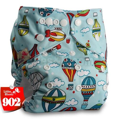 Littles& Bloomz детские моющиеся многоразовые подгузники из настоящей ткани с карманом для подгузников, чехлы для подгузников, костюмы для новорожденных и горшков, один размер, вставки для подгузников - Цвет: 902