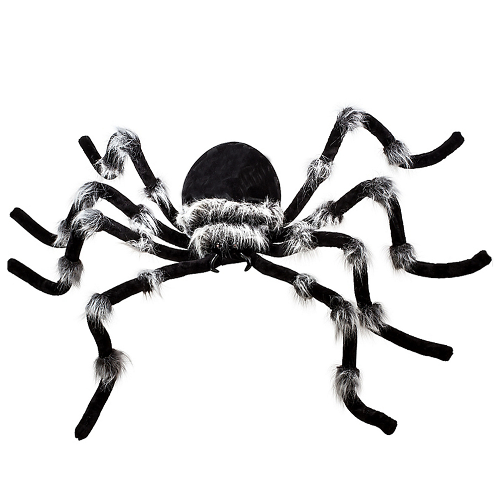 Posable Giant Hairy Spider with Red LED Eyes for Halloween Indoor and Outdoor Decorations-in Party DIY Decorations from Home & Garden    1