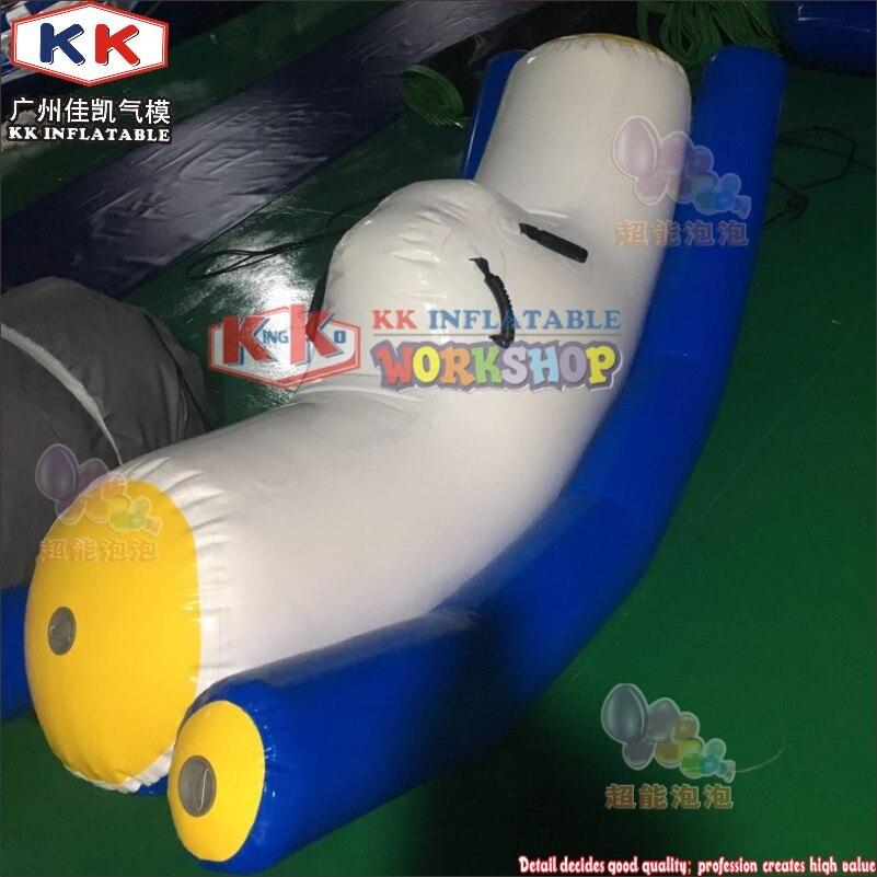 Balançoire flottante gonflable de l'eau de bâche de PVC de la piscine 0.9mm pour des enfants et des adultes