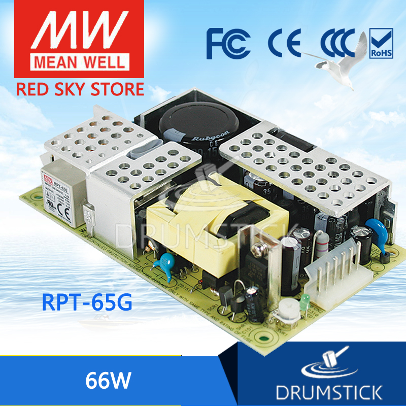 цена на Advantages MEAN WELL RPT-65G meanwell RPT-65 66W Isolated Dual Output with PFC Function PCB type