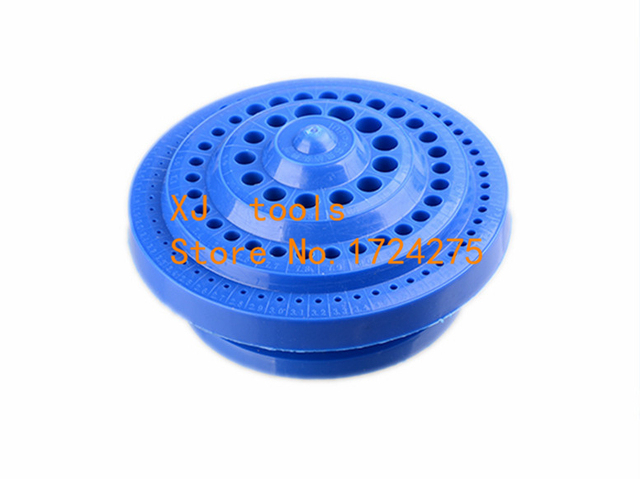 Broca em plástico resistente, organizador de plástico redondo, ferramenta de 100 furos