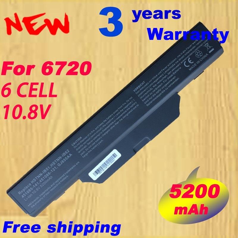 6 Cell Laptop battery for HP 550 Compaq 510 511 610 HSTNN-IB62 451085-141 451086-121 451086-161 HSTNN-IB52 HSTNN-IB51