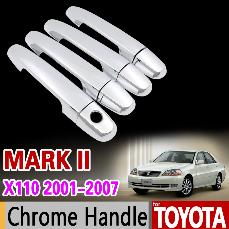 for Toyota Mark II 2001 - 2007 x110 Chrome Handle Cover Trim Set 2002 2003 2004 2005 2006 Car Accessories Stickers Car Styling
