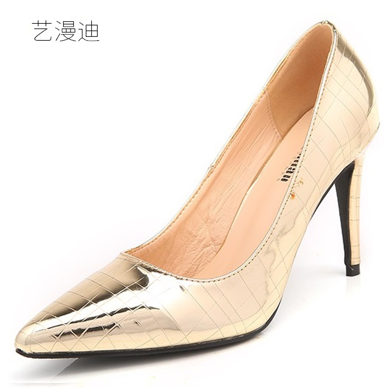 2018 Plus Small Size 30-43 Fashion Gold Sexy High Heels for Women's Pumps with Shoes Woman Wedding Ladies Party Silver Red Black newest summer style woman pumps shoes high quality ladies high heels basic shoes for party free shipping size 37 43