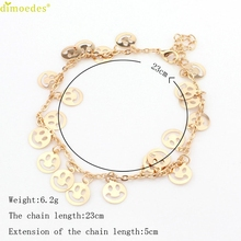 Diomedes Newest Gorgeous 1PC Womens Smile Beach Barefoot Toe Chain Link Foot Anklet Chain Jewelry Charm Chain Anklet #0224