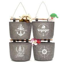 Organizer Racks Storage-Bags Pocket Wall-Holder Hanging Cotton Dark-Fabric Pendant