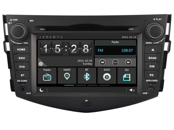 Car Gps Dvd Stereo Player Radio for Toyota Rav4 Rav 2008 2012 Navigation Bluetooth HD Multimedia