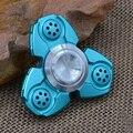 Ручной Счетчик Непоседа EDC Палец Игрушка Алюминия Непоседа Уменьшить Давление Игрушки Синий