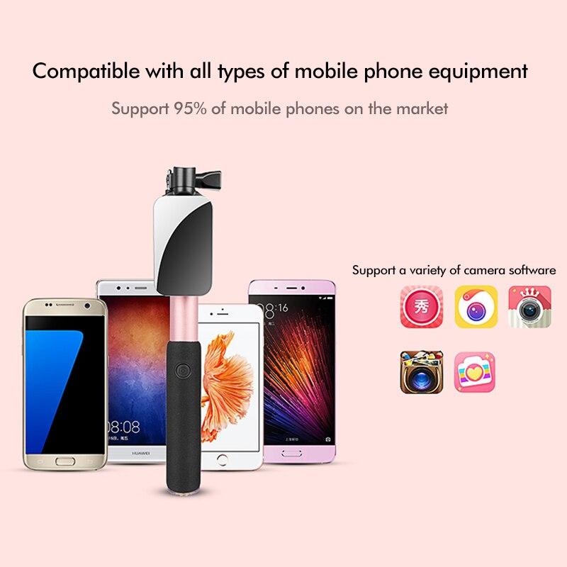 Universal con conexión de cable Selfie Stick Mirror Monopod - Cámara y foto - foto 4